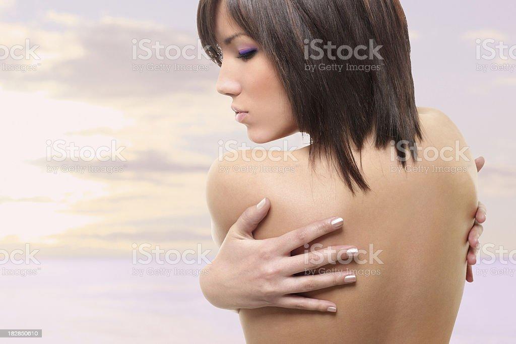Wunderschöne Nackter Oberkörper Frau. – Foto