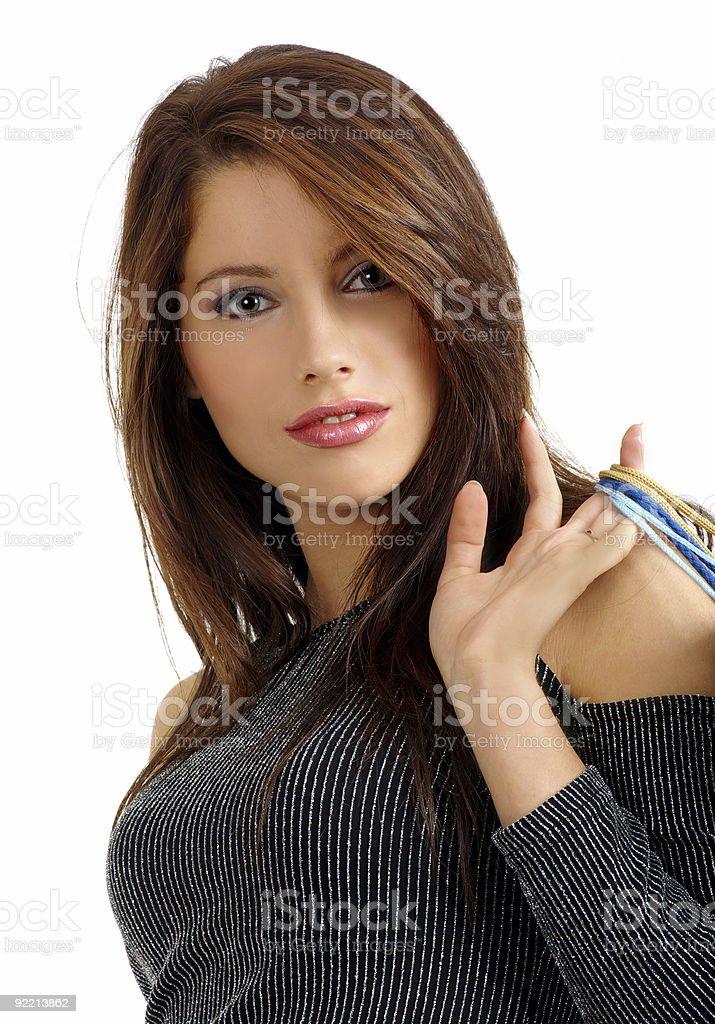 beautiful shopping girl royalty-free stock photo