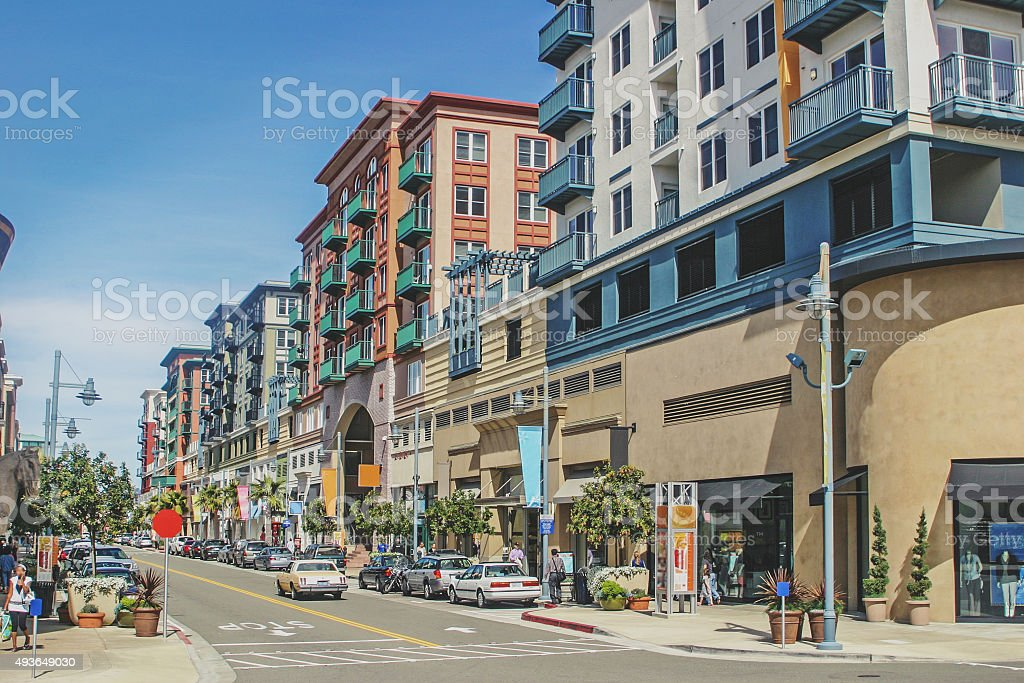 Beautiful shopping street stock photo