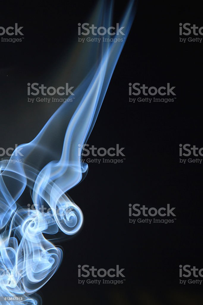 Beautiful shot of smoke photography with black background royalty free stockfoto