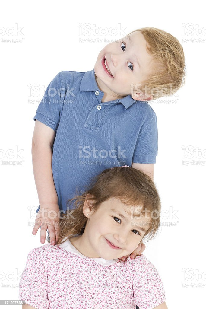 Beautiful sibling's portrait royalty-free stock photo