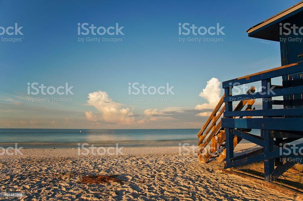 Bela praia Siesta Key, no sul da Flórida - foto de acervo