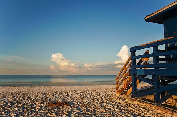 Beautiful Siesta Key Beach in Southern Florida stock photo