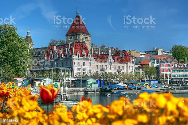 A Beautiful Sight Of Chateau Douchy Lausanne Switzerland Stock Photo - Download Image Now