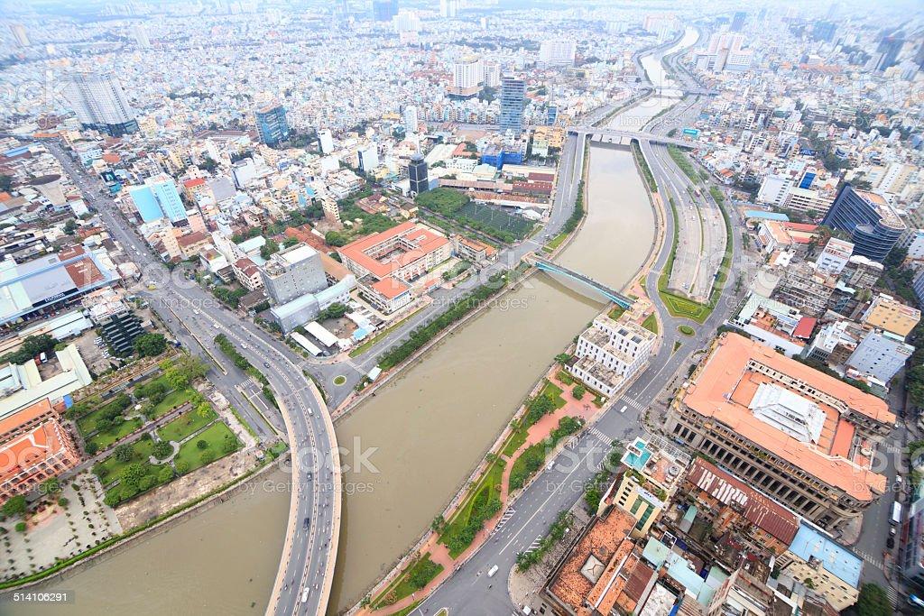 Beautiful sightseeing of HO CHI MINH city royalty free stockfoto