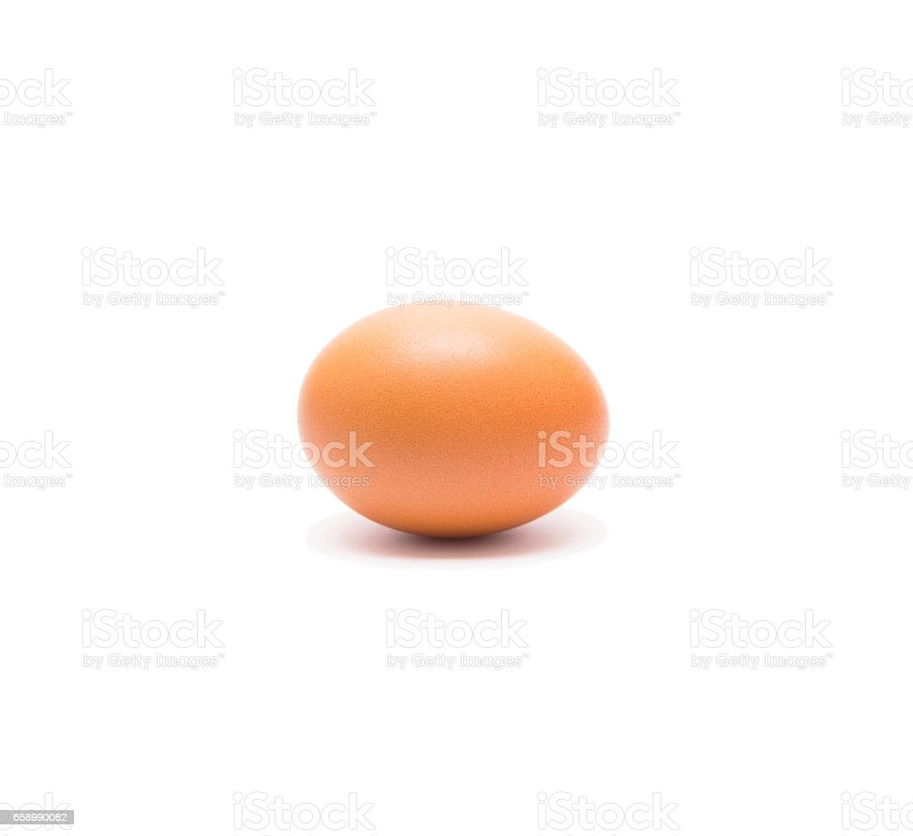 Beautiful single brown chicken egg isolated on white background royalty-free stock photo