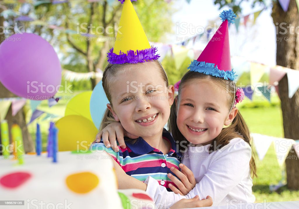 Beautiful sisters at a party royalty-free stock photo