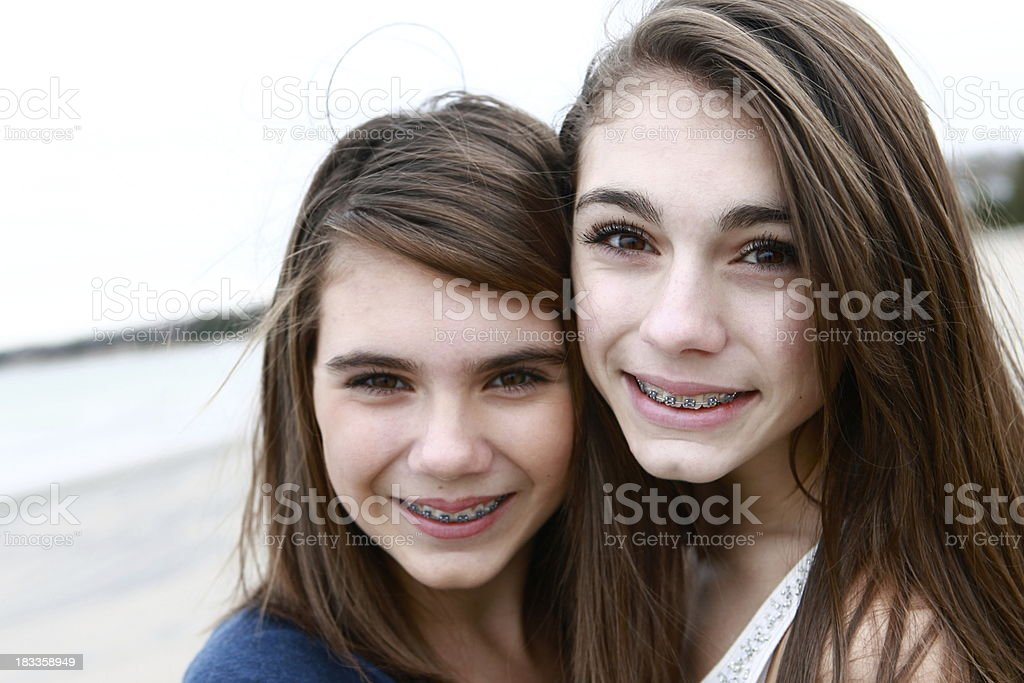 Beautiful Sisters stock photo