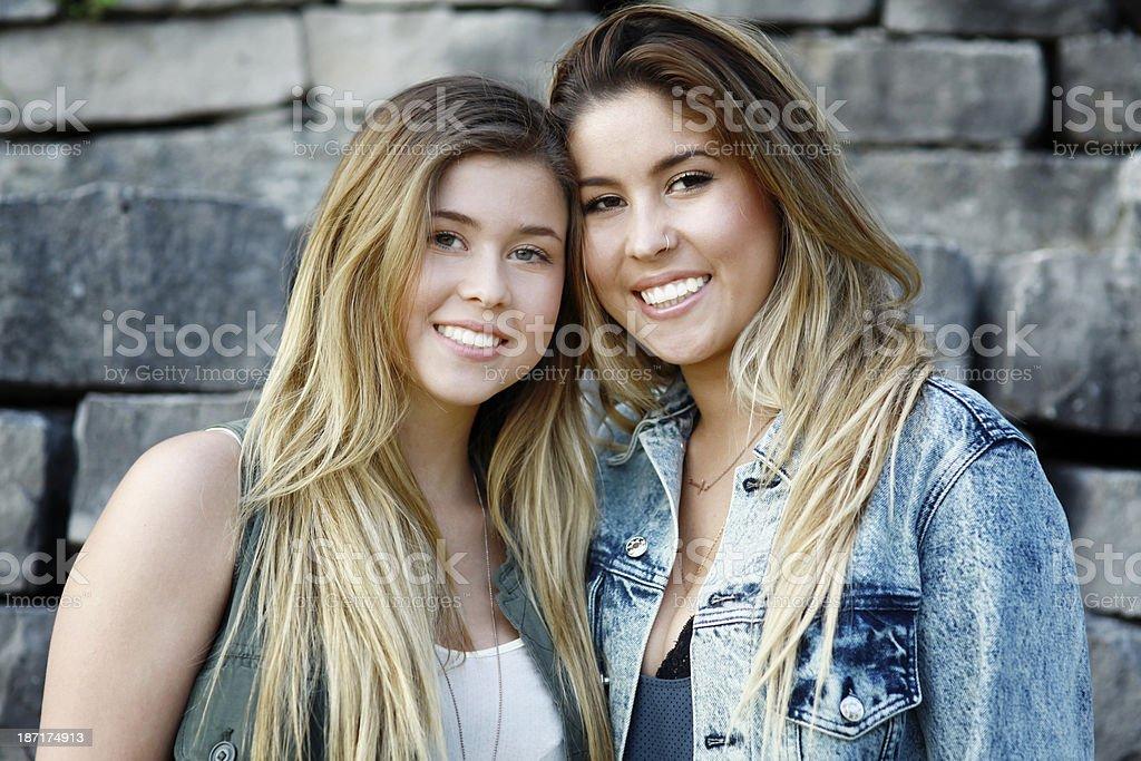 Beautiful Sisters royalty-free stock photo