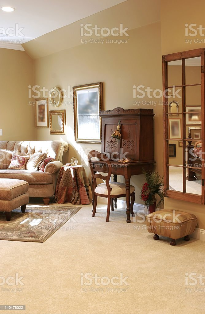 beautiful sitting area with copy space royalty-free stock photo