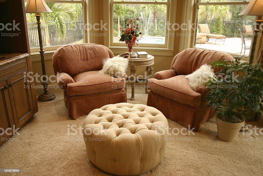 Beautiful Sitting Room stock photo
