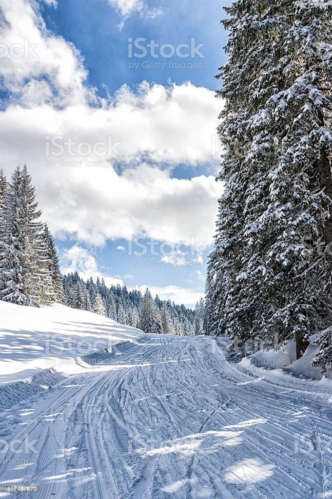 Beautiful ski slope stock photo