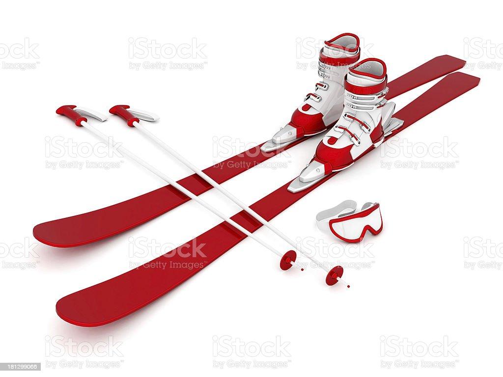 Wunderschöne Skifahren – Foto