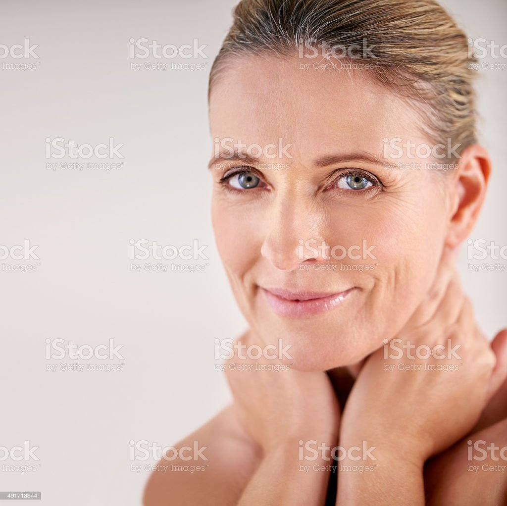 Beautiful skin requires commitment not a miracle stock photo