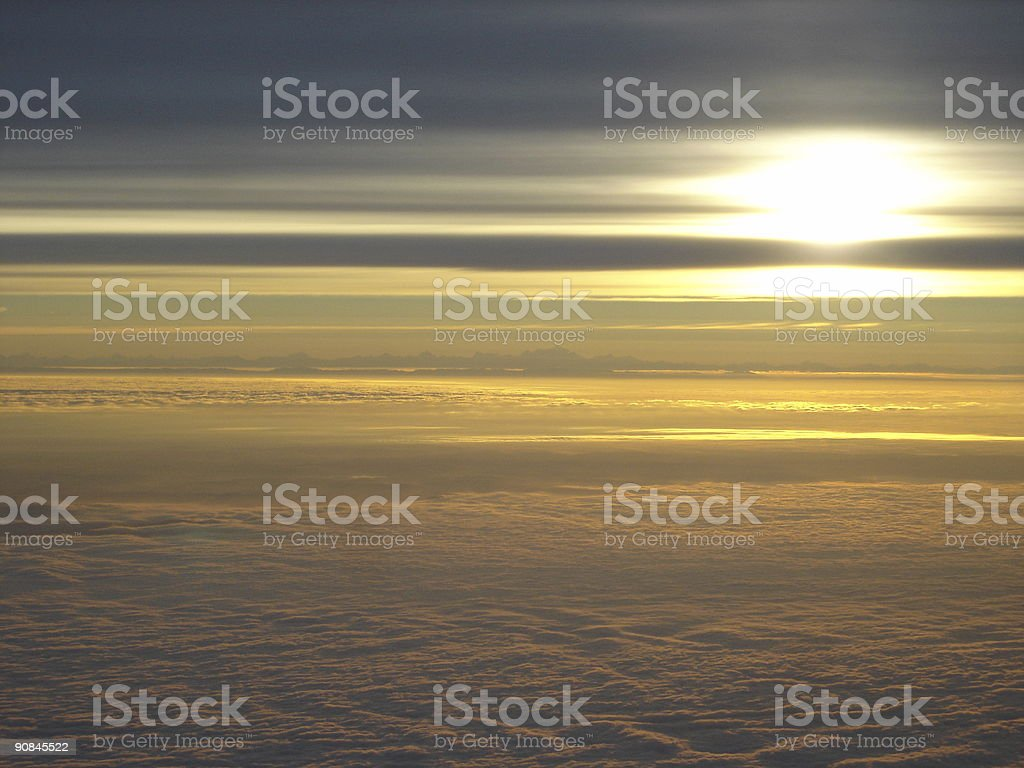 Beautiful sky above clouds royalty-free stock photo