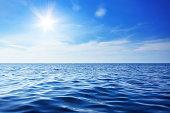 Beautiful sky and blue ocean