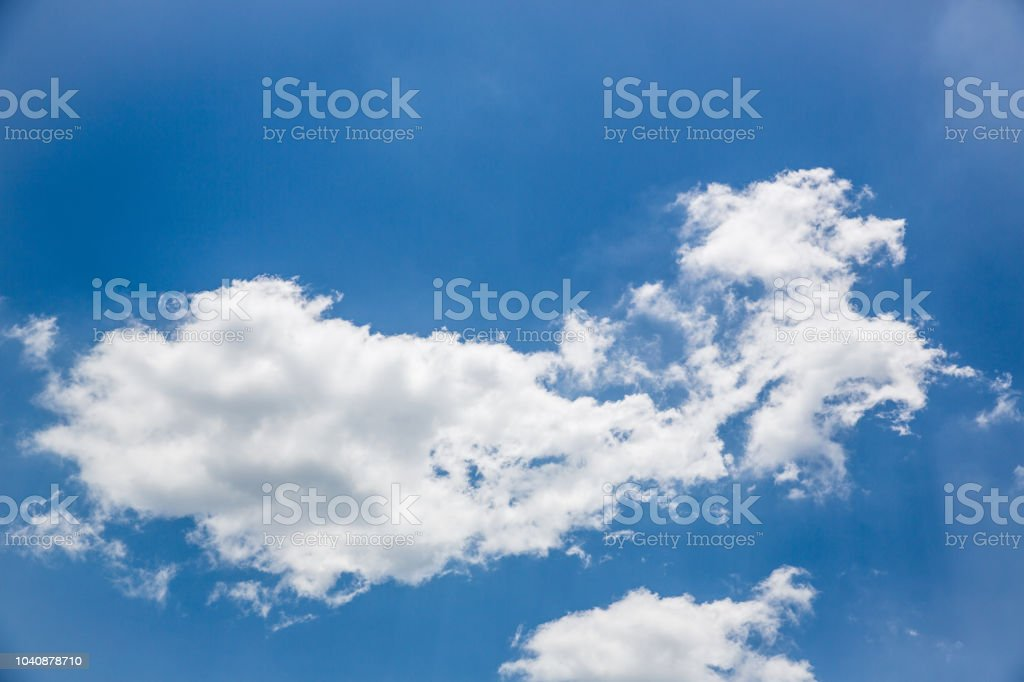 Beautiful Sky And Cloud For Use Wallpaper Or Backgroundblue