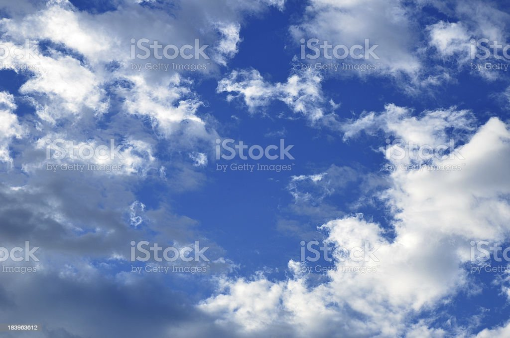 Beautiful sky and nice cloudscape royalty-free stock photo