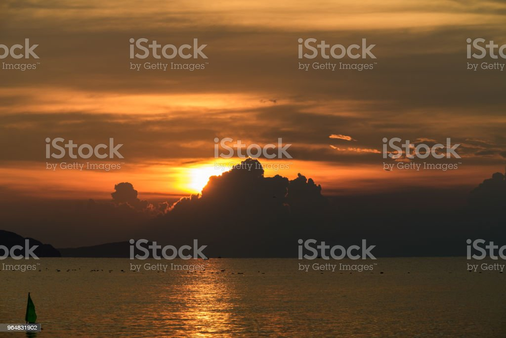 Beautiful sky and sunlight on morning royalty-free stock photo