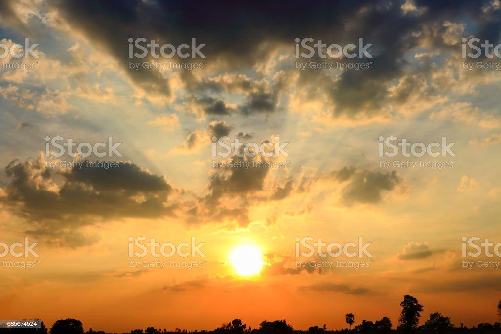 Beautiful sky atmosphere. 免版稅 stock photo