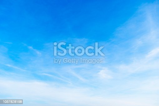 Beautiful sky gradient color from white to blue use for freshness background and wallpaper.