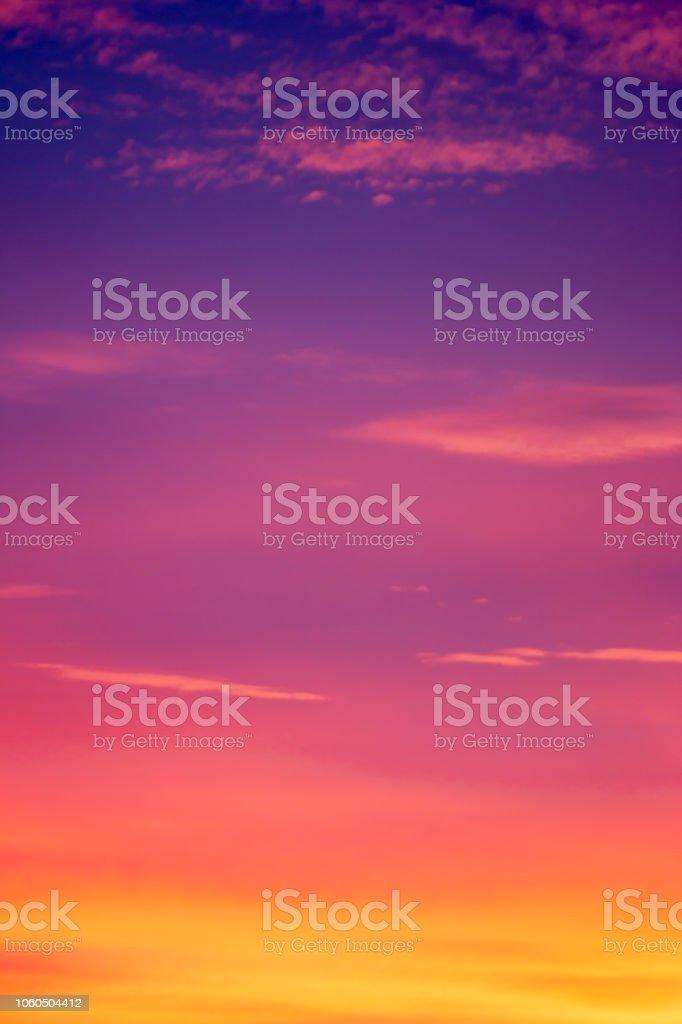 Schönen Himmel am Abend. – Foto