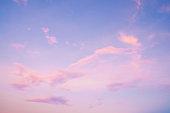 夕暮れ時の美しい空の風景