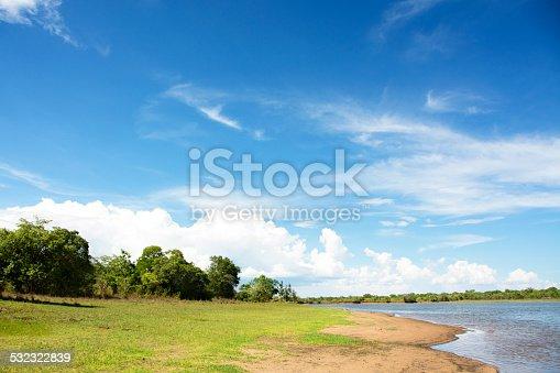 istock Beautiful Sky over Lifupa Dam, Kasungu 532322839