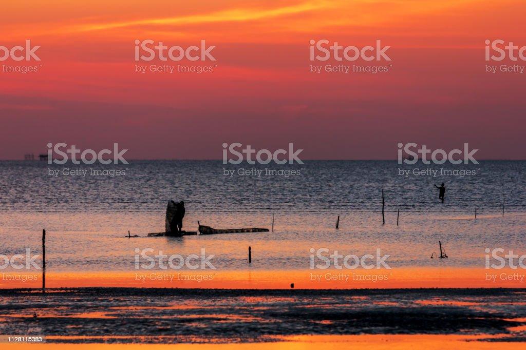 Schönen Himmel am Meer – Foto