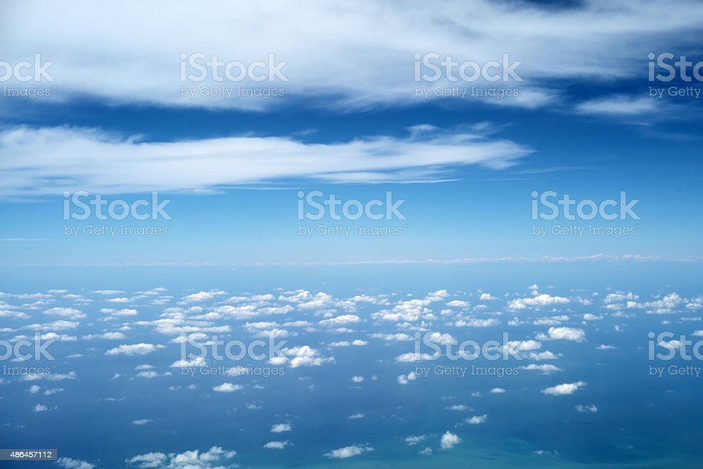 Beautiful sky with clouds stock photo