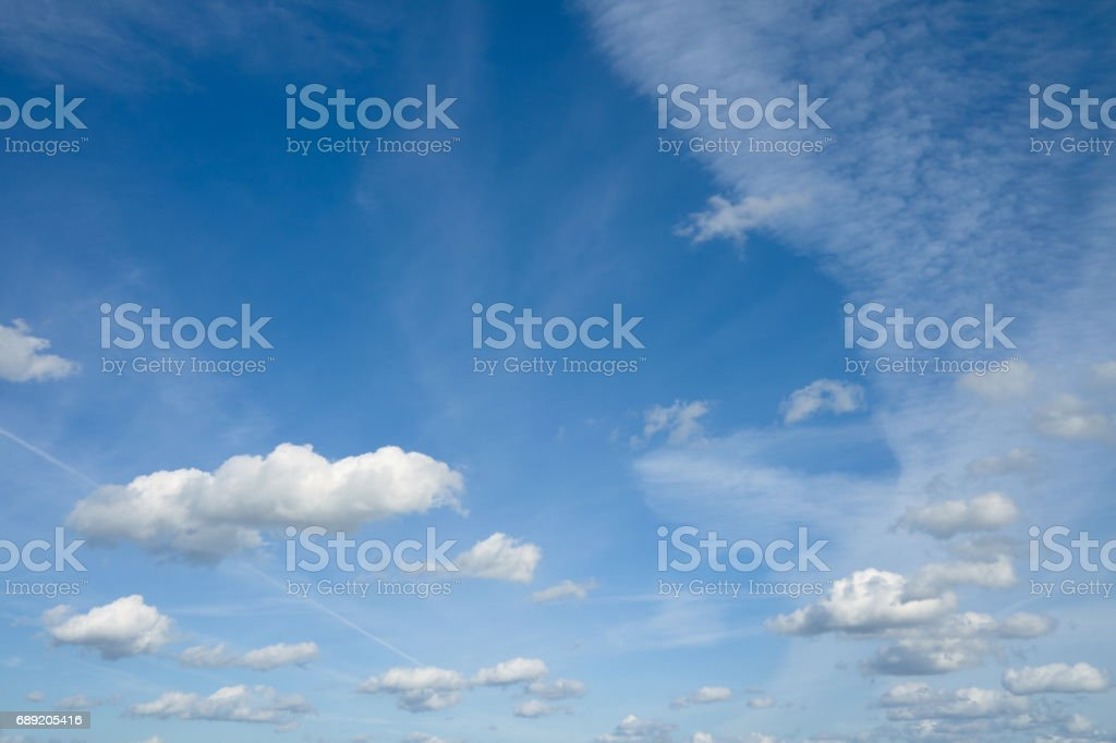 Beautiful sky with clouds. stock photo