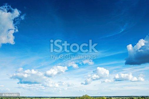 beautiful sky with cumulus clouds