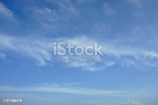 istock Beautiful sky with white cloud Background 1157769478