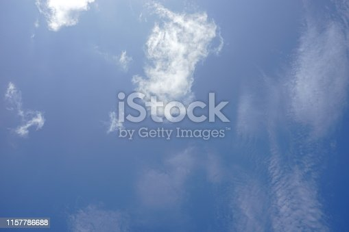 istock Beautiful sky with white cloud Background 1157786688