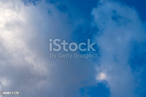 istock Beautiful sky with white cloud.  Background 469811176