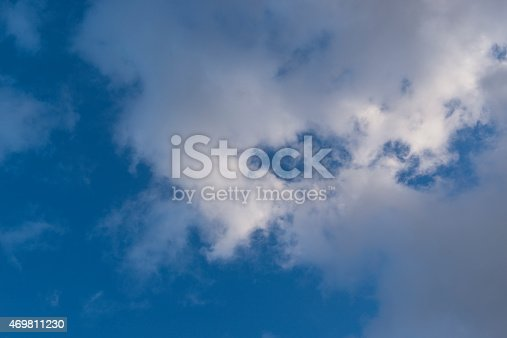 istock Beautiful sky with white cloud.  Background 469811230