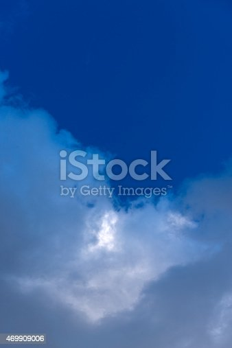 istock Beautiful sky with white cloud.  Background 469909006