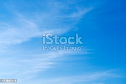 istock Beautiful sky with white cloud.  Background 473682444