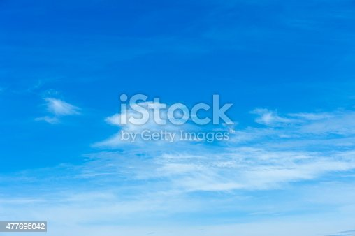 istock Beautiful sky with white cloud.  Background 477695042