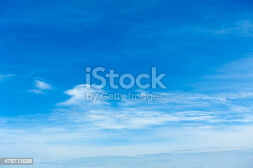 istock Beautiful sky with white cloud.  Background 478713698