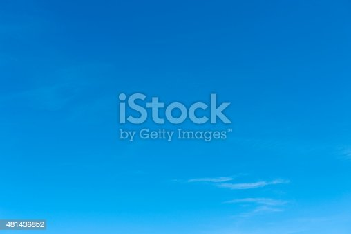 istock Beautiful sky with white cloud.  Background 481436852