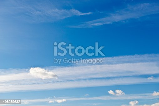 istock Beautiful sky with white cloud.  Background 496235632
