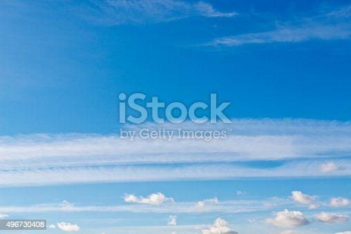 istock Beautiful sky with white cloud.  Background 496730408