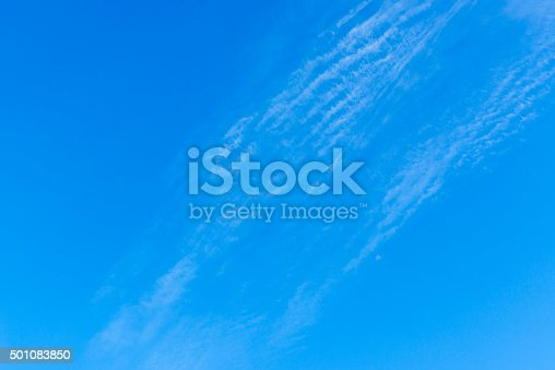 istock Beautiful sky with white cloud.  Background 501083850