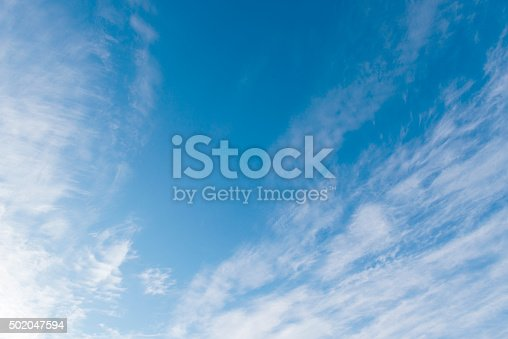istock Beautiful sky with white cloud.  Background 502047594