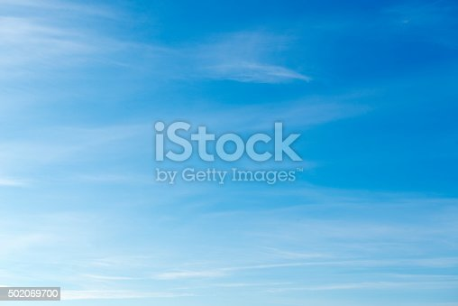 istock Beautiful sky with white cloud.  Background 502069700