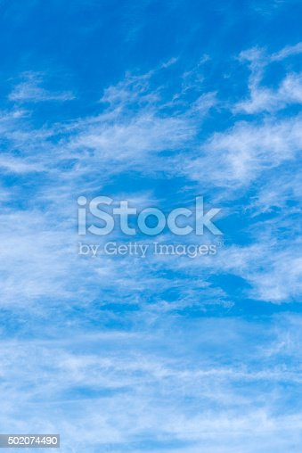 istock Beautiful sky with white cloud.  Background 502074490