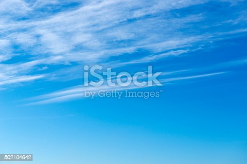 istock Beautiful sky with white cloud.  Background 502104642