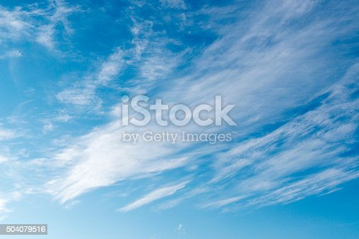 istock Beautiful sky with white cloud.  Background 504079516