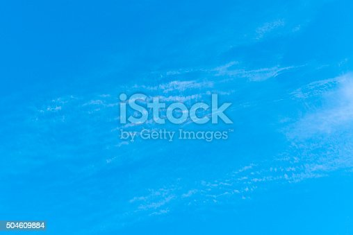 istock Beautiful sky with white cloud.  Background 504609884
